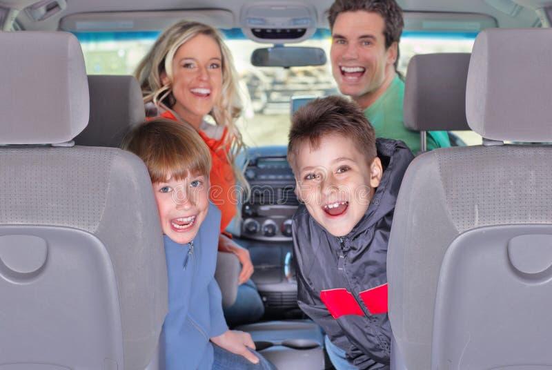 Carro de família fotos de stock