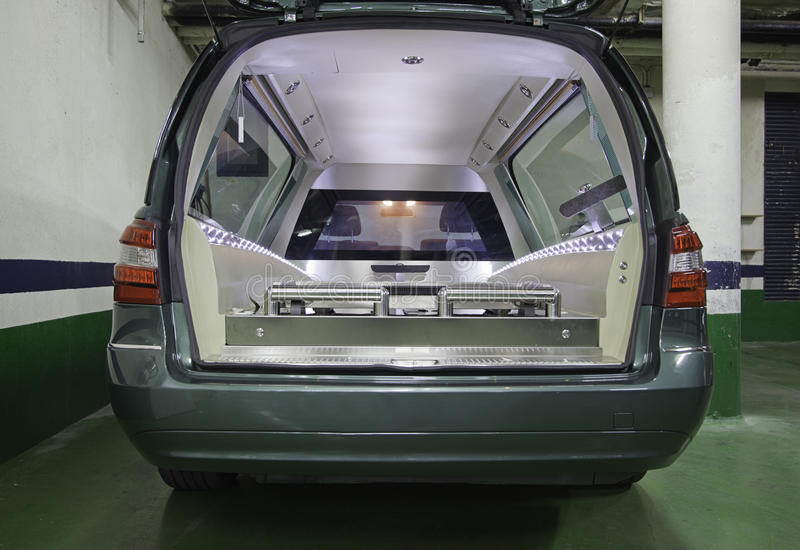 Carro de funeral fotografia de stock royalty free