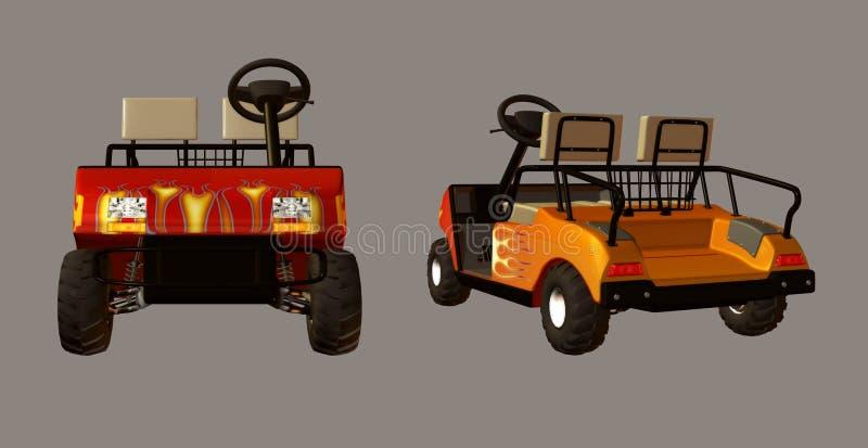 Carro de golf ilustración del vector