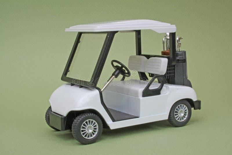 Carro de golf del modelo de escala imágenes de archivo libres de regalías