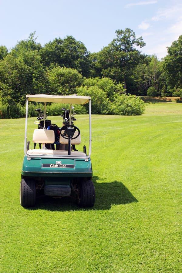 Carro de golfe imagem de stock