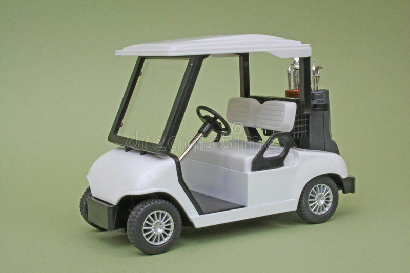 Carro de golfe do modelo de escala imagens de stock royalty free