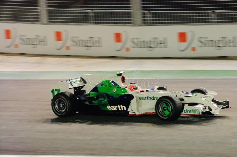 Carro de Honda de Rubens Barrichello nos 2008 F1 foto de stock royalty free