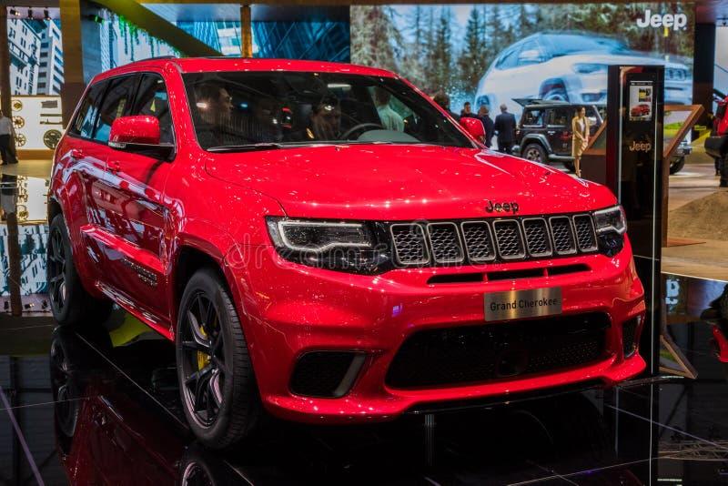 Carro de Jeep Grand Cherokee Trackhawk SUV imagem de stock