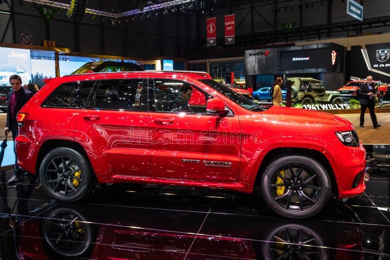 Carro de Jeep Grand Cherokee Trackhawk SUV imagens de stock royalty free