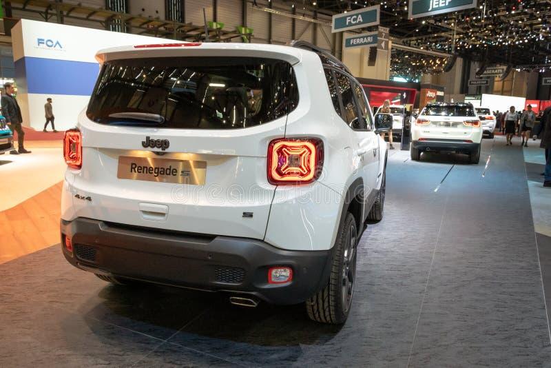 Carro de Jeep Renegade S imagens de stock