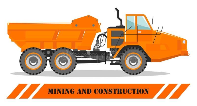 carro de la apagado-carretera Rafadora y material de construcción pesados Ilustración del vector ilustración del vector