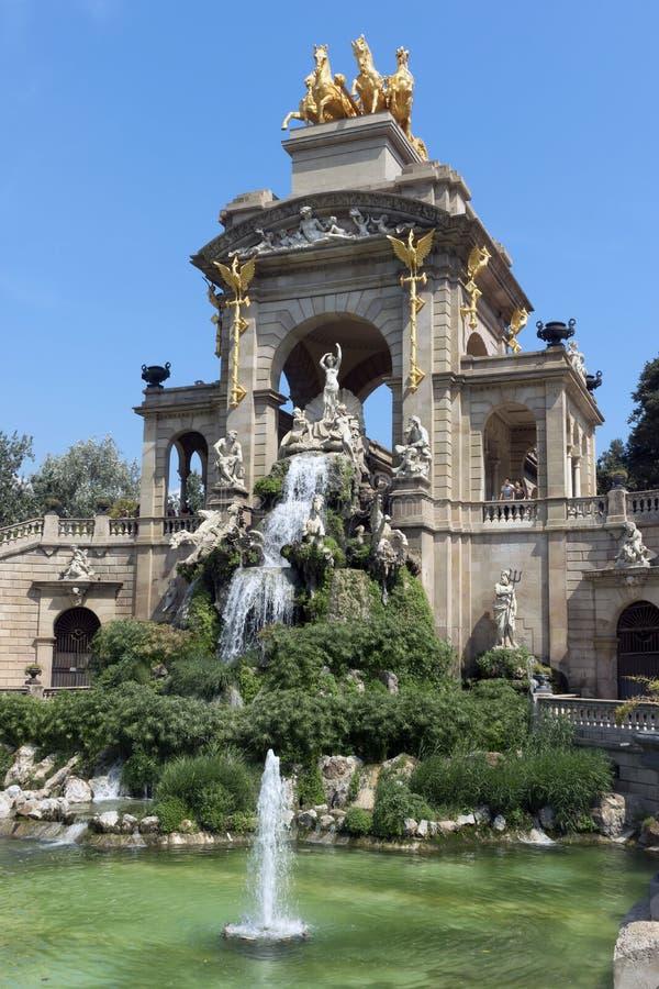 Carro de la Aurora fountain. BARCELONA, SPAIN - JULY 12, 2015: Carro de la Aurora in Ciutadella park in Barcelona, Spain stock photography