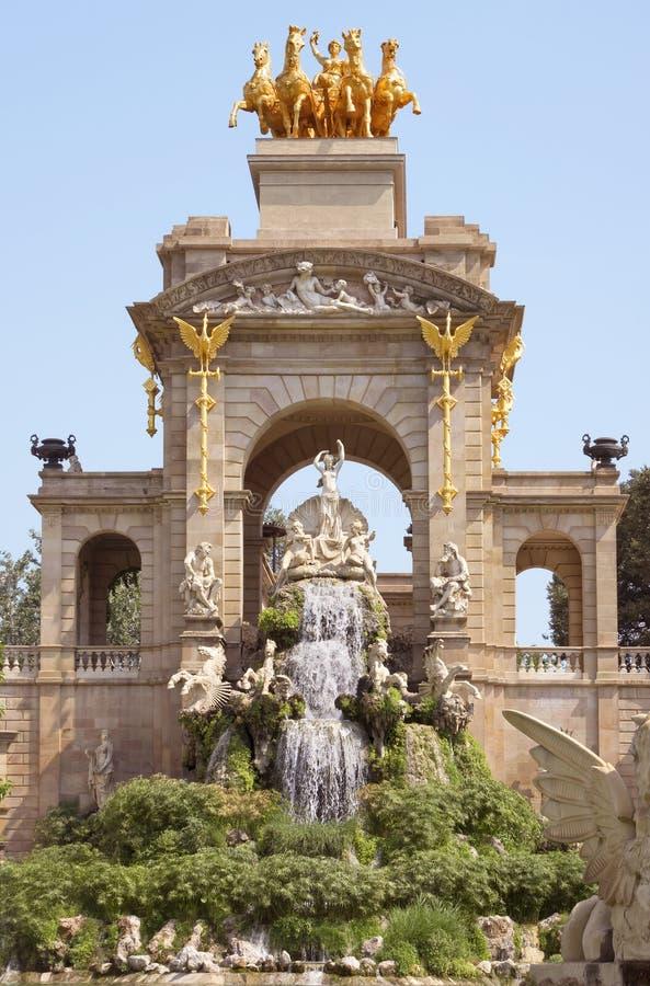 Carro de la Aurora fountain. Carro de la Aurora in Ciudadela park in Barcelona, Spain royalty free stock images