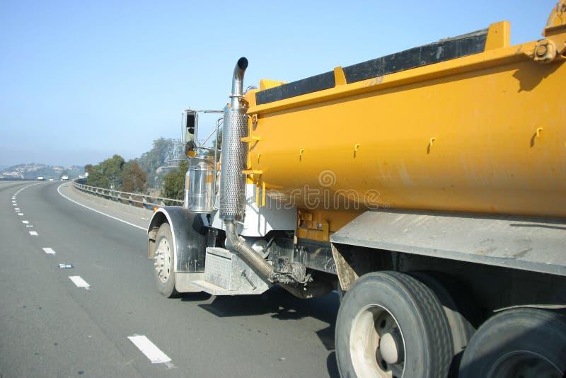 Carro de la autopista sin peaje fotografía de archivo