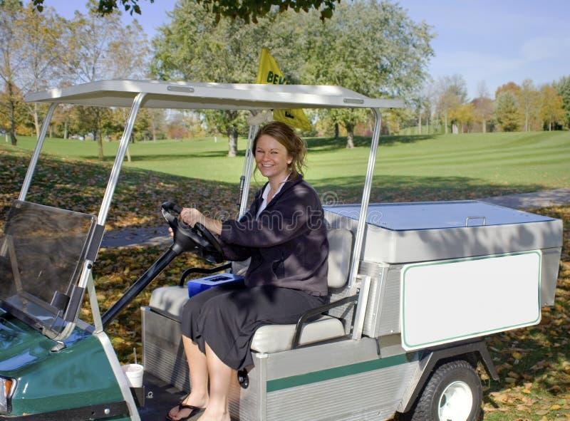 Carro de la bebida del campo de golf imagen de archivo