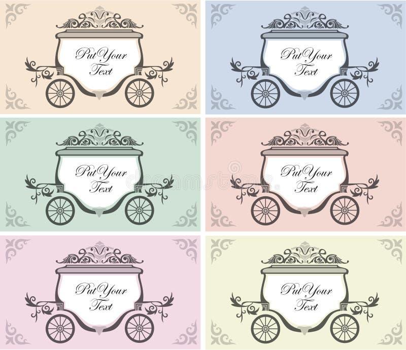 Carro de la boda ilustración del vector