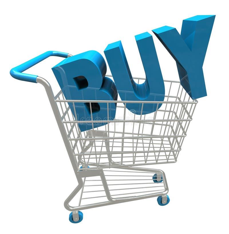 Carro de la compra - compre la palabra stock de ilustración