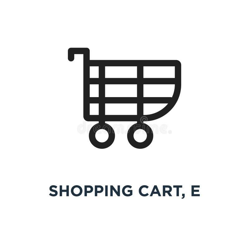 carro de la compra, icono de e diseño del símbolo del concepto del comercio, vector IL stock de ilustración