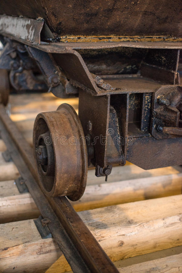 Carro de la mina de carbón fotos de archivo