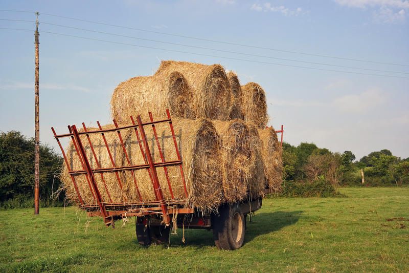 Download Carro de la paja foto de archivo. Imagen de afuera, agrícola - 44854888