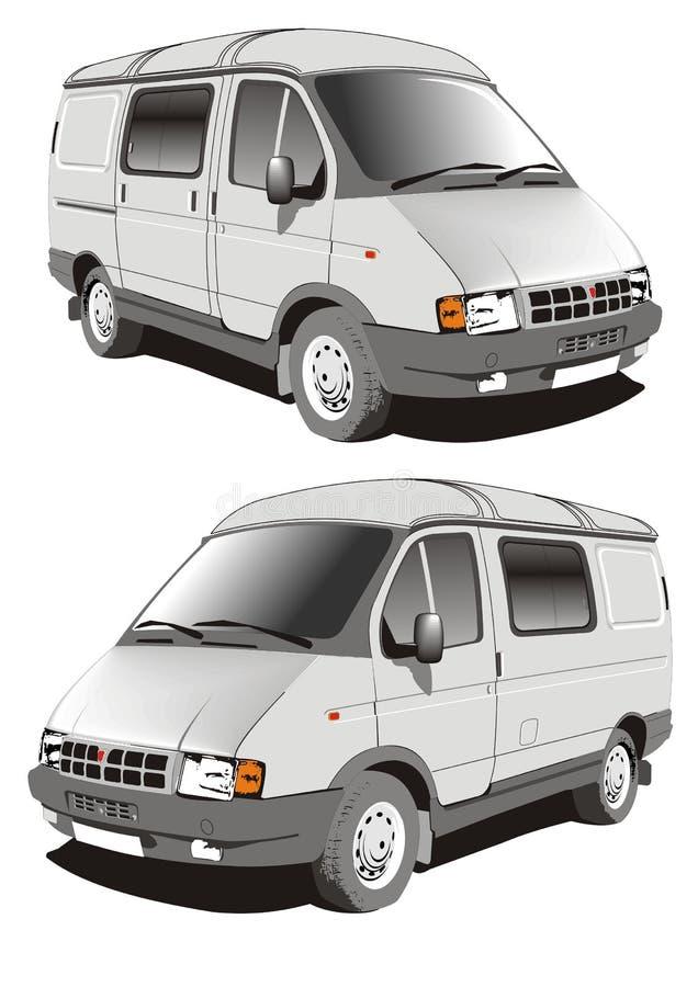 Carro de la salida del vector pequeño stock de ilustración
