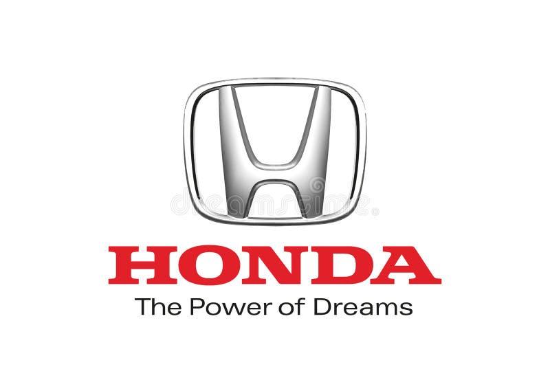 Carro de Logo Honda ilustração royalty free