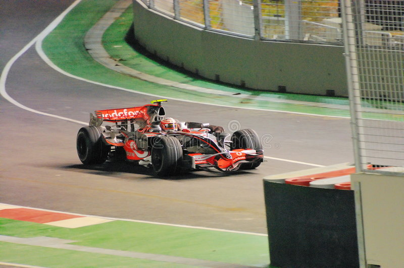 Carro de McLaren de Heikki Kovalainen nos 2008 F1 imagens de stock