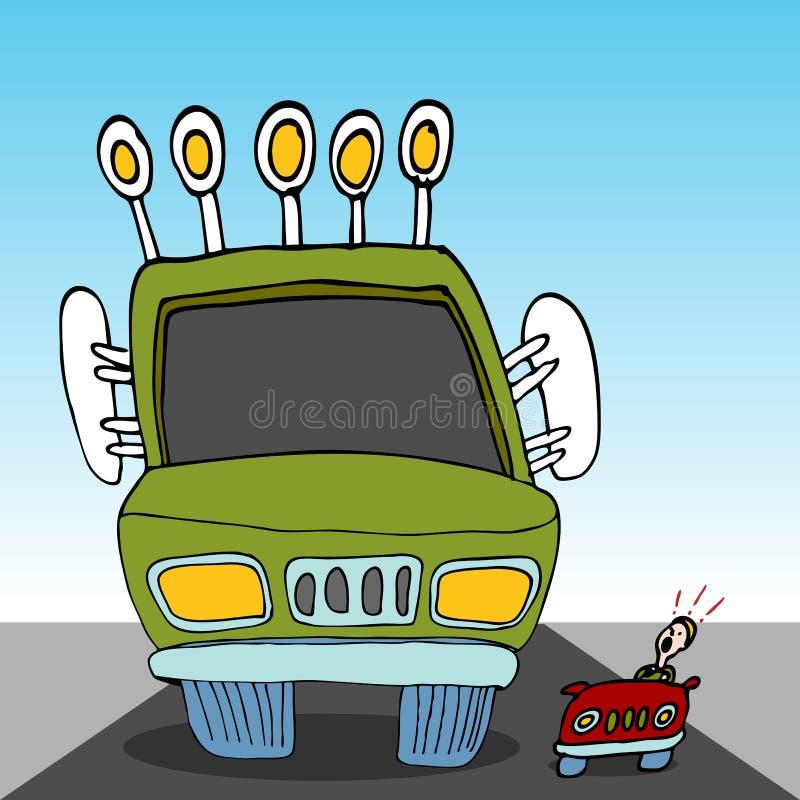 Carro de monstruo ilustración del vector