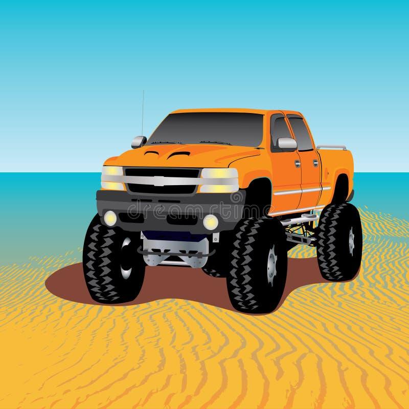 Carro de monstruo stock de ilustración