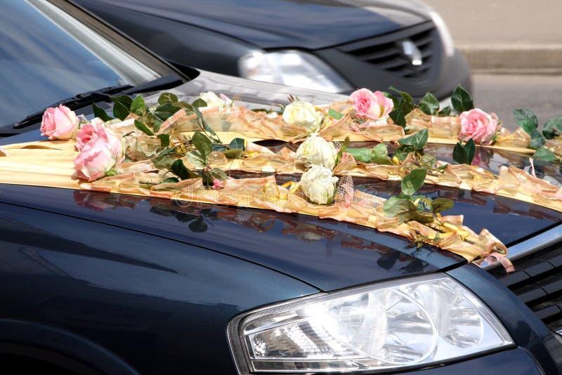 Carro de motor do casamento imagem de stock royalty free