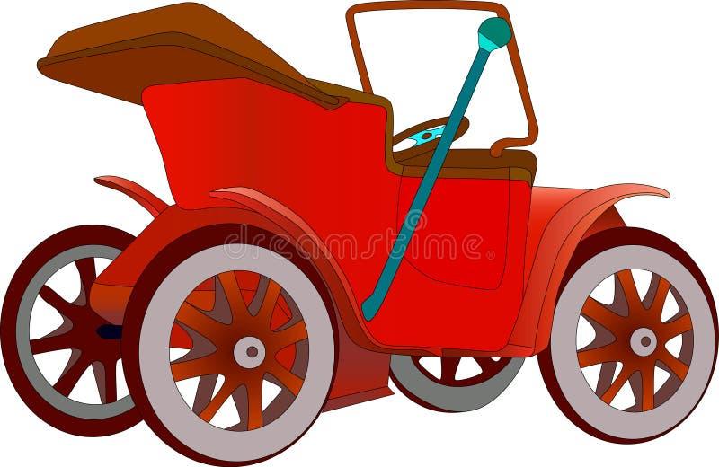 Carro de motor do veterano ilustração royalty free