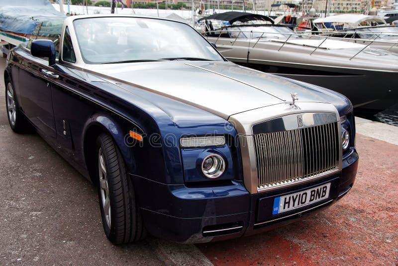 Carro de motor Rolls royce Phantom Drophead Coupe imagem de stock