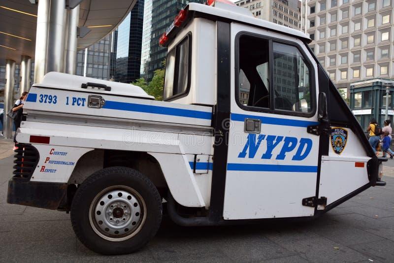 Carro de NYPD fotografia de stock
