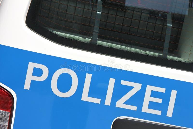 Carro de polícia alemão fotografia de stock