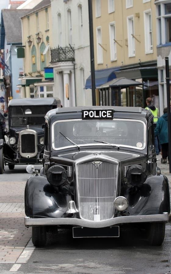 Carro de polícia britânico do vintage foto de stock royalty free