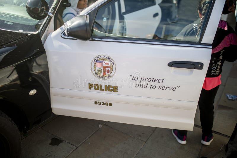 Carro de polícia clássico de Beverly Hills Chevrolet fotografia de stock royalty free