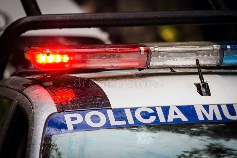 Carro de polícia da emergência imagem de stock royalty free