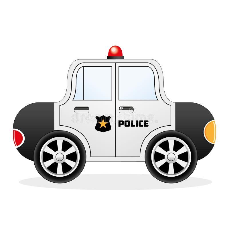 Carro de polícia dos desenhos animados ilustração do vetor