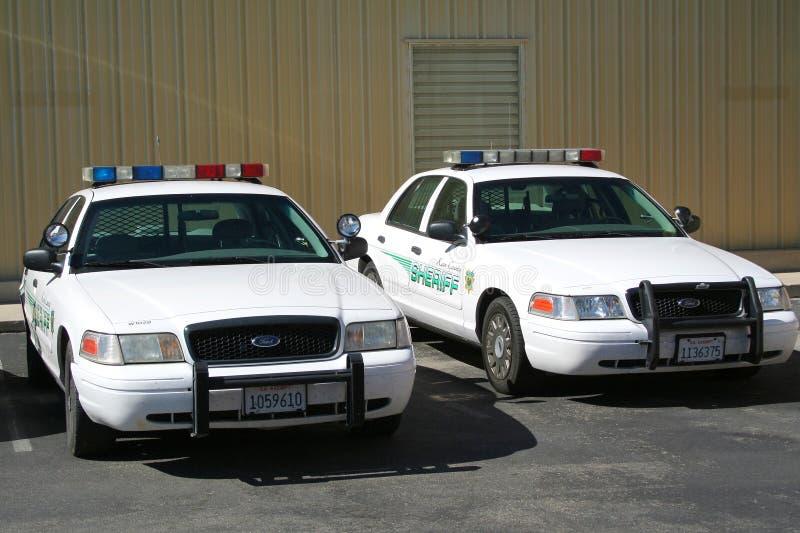 Carro de polícia dos EUA fotografia de stock