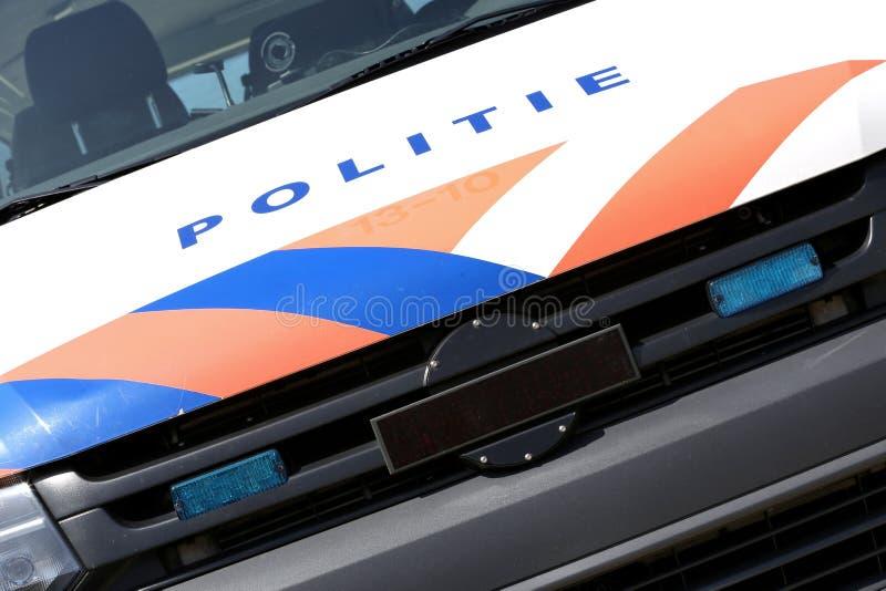Carro de polícia holandês foto de stock
