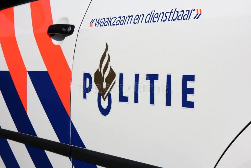 Carro de polícia holandês imagens de stock royalty free
