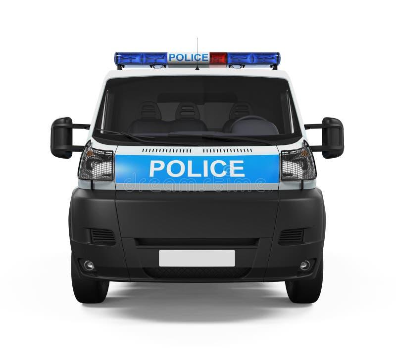Carro de polícia isolado fotos de stock