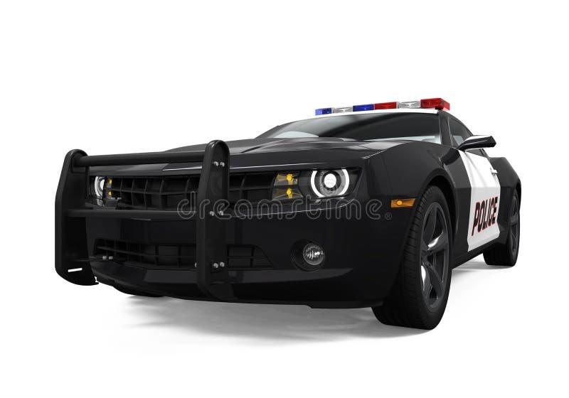 Carro de polícia isolado imagem de stock royalty free