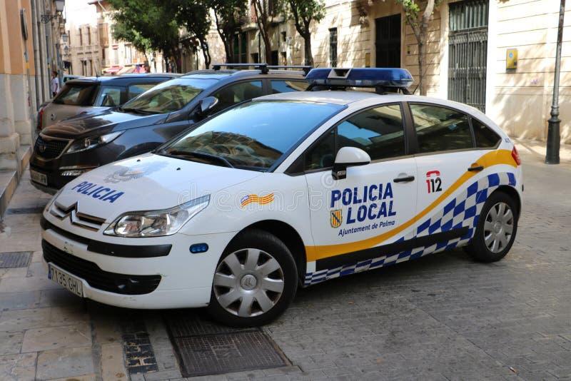 Carro de polícia local do espanhol imagens de stock