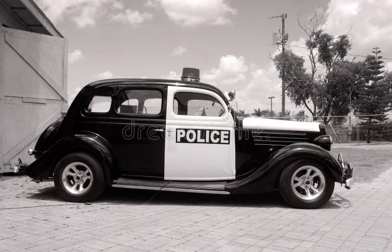 Carro de polícia retro imagens de stock royalty free