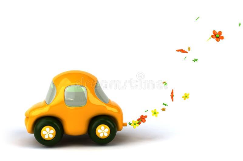 Carro de potência da flor ilustração royalty free