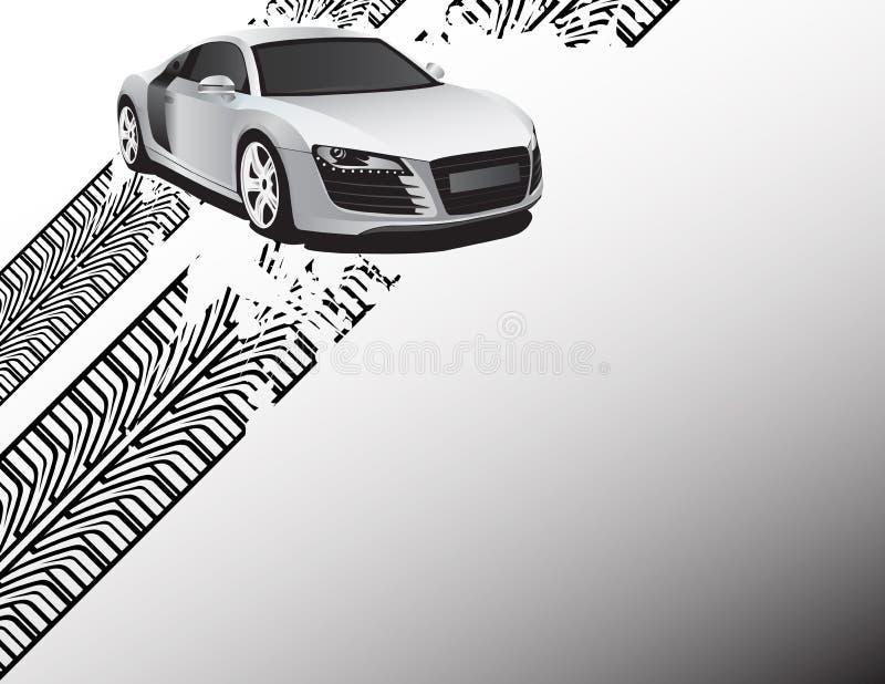 Carro de prata ilustração stock