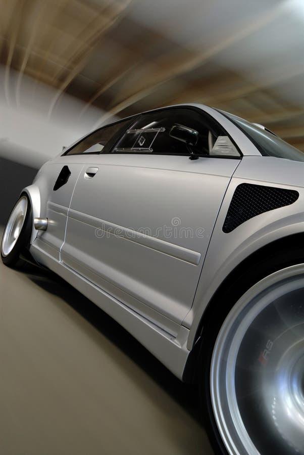 Carro de prata de pressa imagens de stock