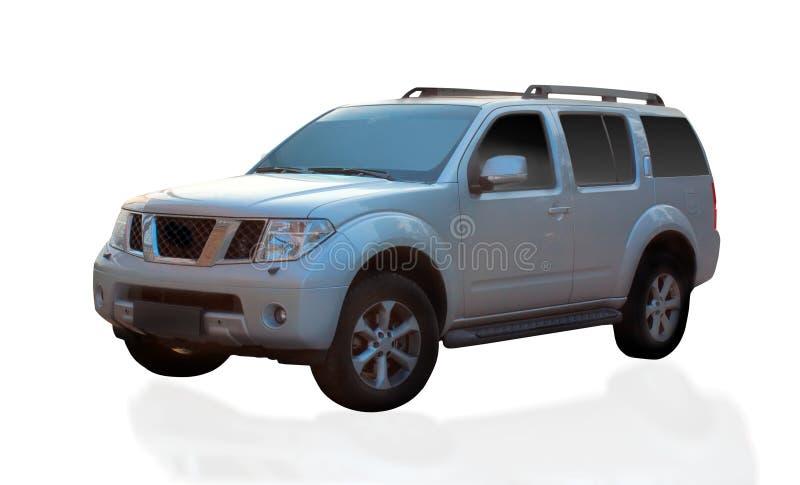Carro de prata de SUV fotografia de stock