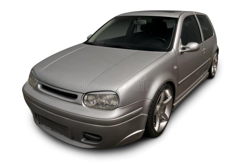 Carro de prata do Hatchback fotos de stock royalty free