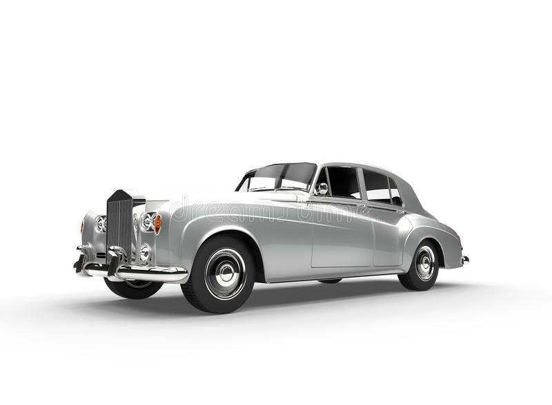 Carro de prata do vintage ilustração do vetor