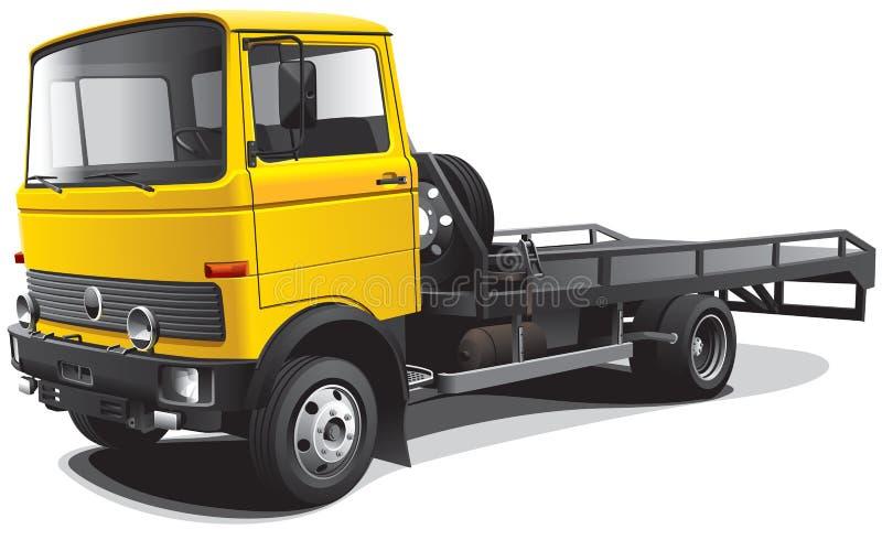 Carro de remolque pasado de moda ilustración del vector