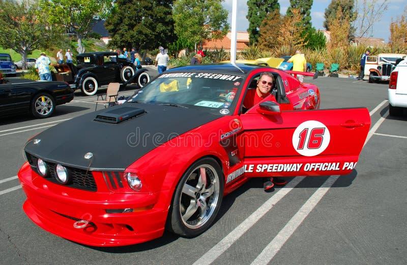 Carro de ritmo oficial para o estrada de Irwindale, Califórnia imagem de stock royalty free