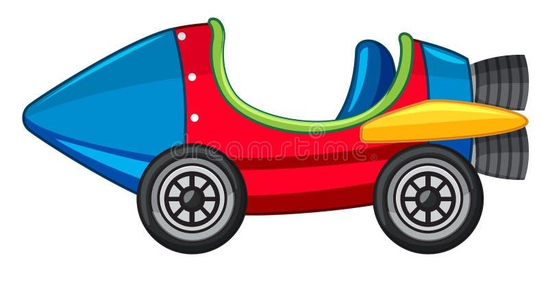 Carro de Rocket na cor vermelha e azul ilustração do vetor